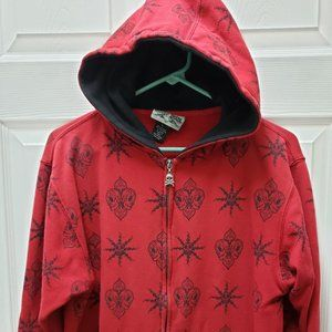 Silver Point Red Hood Sweat Shirt Large